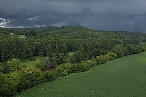 Français : Temps d'orage sur la Vézère, en Dor...