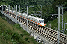 An 700T type high speed train of Taiwan High Speed Rail, which is a derative of Japan Shinkansen.