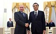 November 2016, Li meets the Russian president Vladimir Putin.