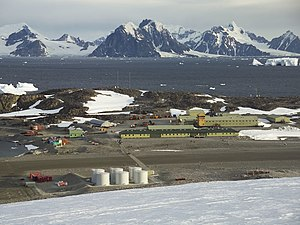 The BAS Rothera research station on Adelaide I...