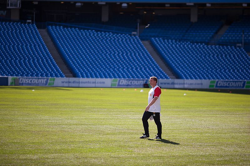 Brendan Rodgers during Liverpool training session in Toronto, 21-07-2012.