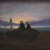 """Moonrise by the Sea"" by Caspar David Friedrich"