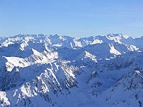Central Pyrenees, as seen from the summit of the Pic du Midi de Bigorre.