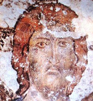 English: A fresco from the Vardzia monastery d...
