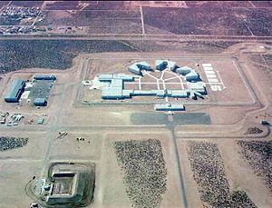 Aerial photo of federal prison medium security...