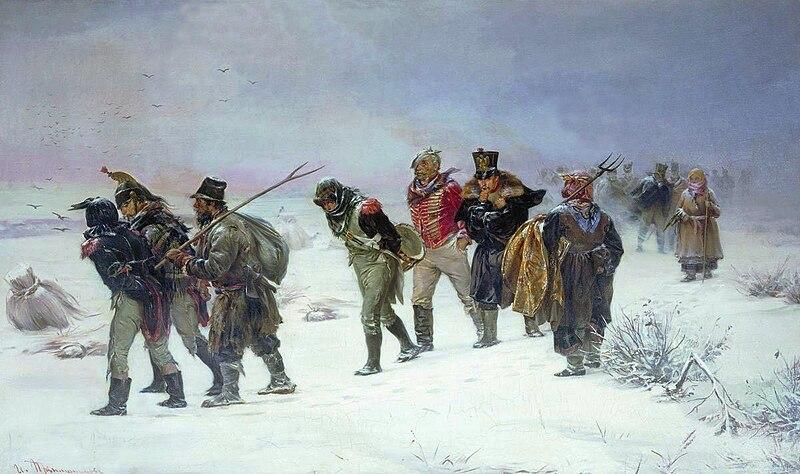 File:French retreat in 1812 by Pryanishnikov.jpg