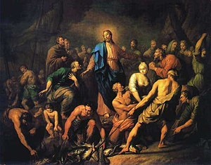 Painting by Anton Losenko, 1762 (first miracle)