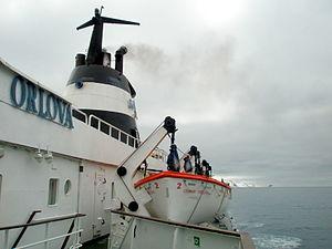 Motor Vessel Lyubov Orlova and it's lifeboats;...