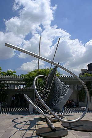 sculpture Memantra by Frank Stella, Iris and B...