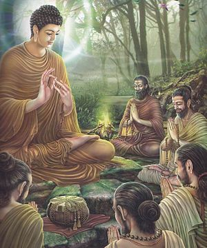 Paintings of Life of Gautama Buddha in Asalha Puja