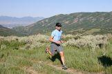 A ultramarathoner running the 32 Mile Wyoming ...