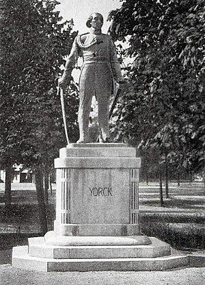 Das York-Denkmal in Königsberg, geschaffen von...