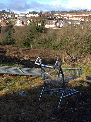 English: Abandoned shopping trolley, Barton On...