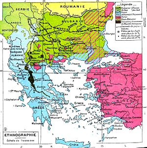 Ethnic map of the Balkans. Note: Henry Robert ...