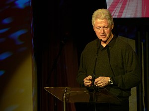 Bill Clinton talking at TED conference 2007. H...