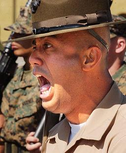 Drill sergeant screams