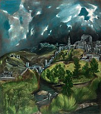 Vista de Toledo, por El Greco circa 1600.