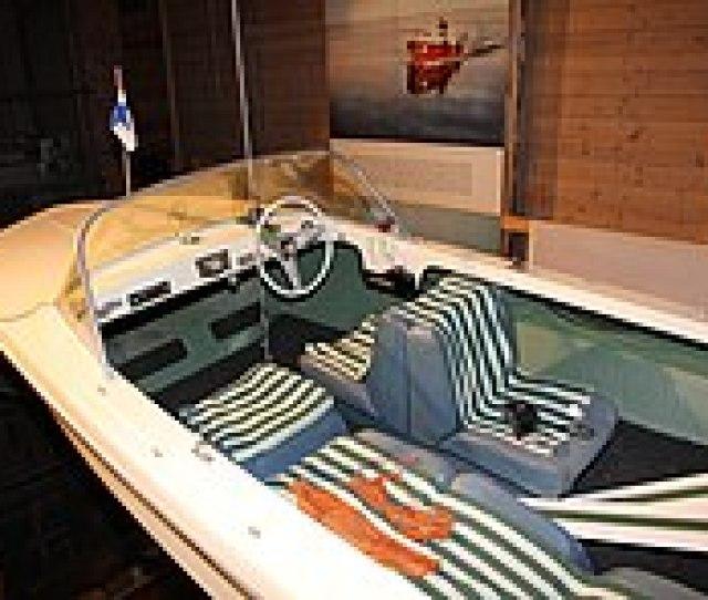 Glastron V 142 Skilifte Motor Boat In Forum Marinum Maritime Museum