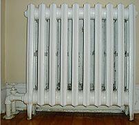 A cast iron household radiator