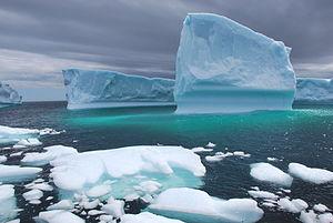 Français : Icebergs, un 14 août [!] St. Anthon...