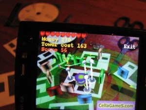 AR Tower Defense game on the Nokia N95 Smartph...