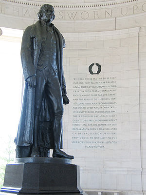 Jefferson Memorial in Washington D.C. with exc...
