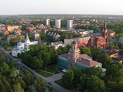 Jelgava aerial view