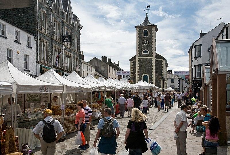 File:Keswick Saturday Market, Cumbria - June 2009.jpg