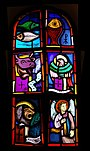 Stained glass of the Four Evangelists in Bockweiler, Germany