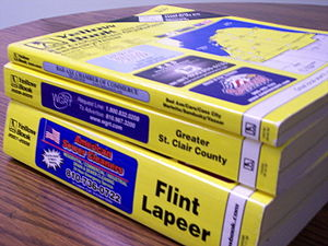 English: Picture of three Michigan Yellow Book...