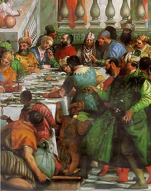 Marriage feast at Cana (Detail)