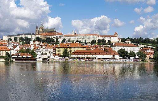 Prague Castle from Alsovo nabrezi