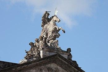 English: Santiago apostle. Palace of Raxoi, Sa...