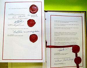 English: Schengen Agreement signed 1985-06-14,...