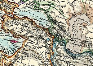 English: Map of Caucasus, Asia Minor and Middl...