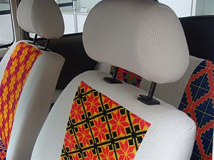 Drivers side headrest of the Vochol