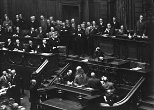 Reichstag on September 12, 1932 - Chancellor v...