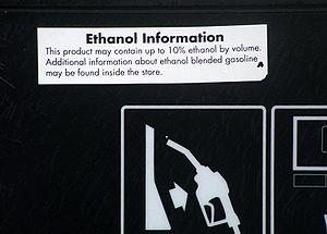 Information on pump regarding ethanol fuel ble...