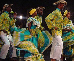 Fiesta in Palenque. Afro-Colombian tradition f...