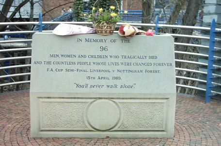 Hillsborough Memorial, from Wiki