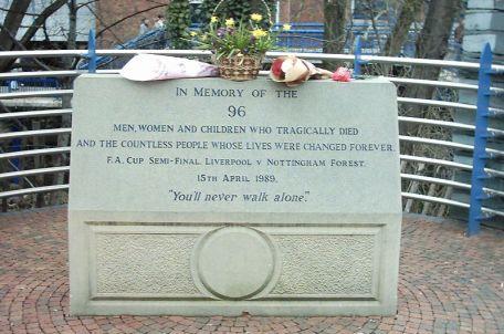 Hillsborough Memorial, from Wiki