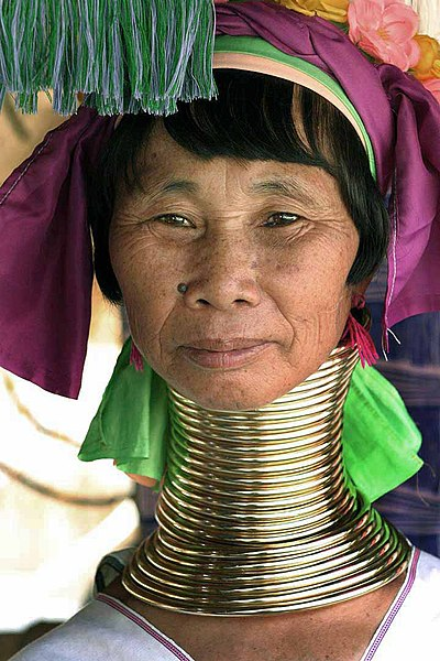Kayan Woman with Neck Rings