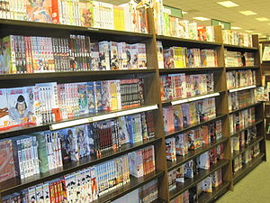 The manga section at Barnes & Noble in Colma, ...