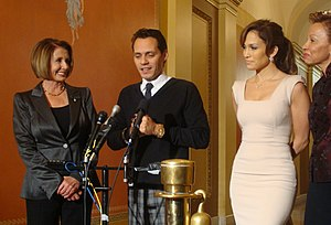 Speaker Nancy Pelosi, Marc Anthony, Jennifer L...