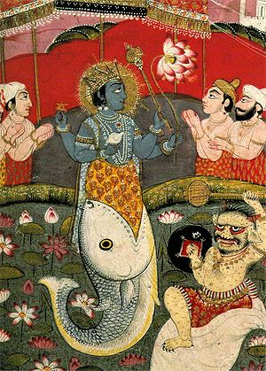 Incarnation of Vishnu as a Fish, from a devoti...