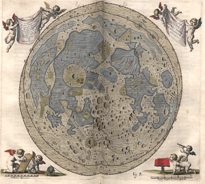 Map of the Moon engraved by Polish astronom Jo...