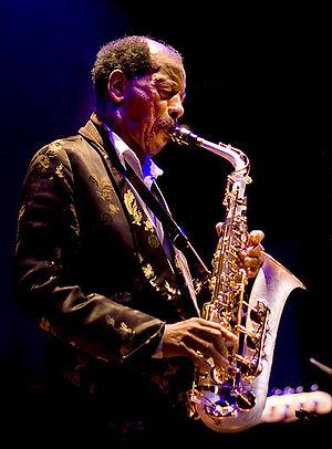 English: Ornette Coleman at Enjoy Jazz Festiva...