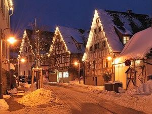The historical center of Schöckingen in Baden-...