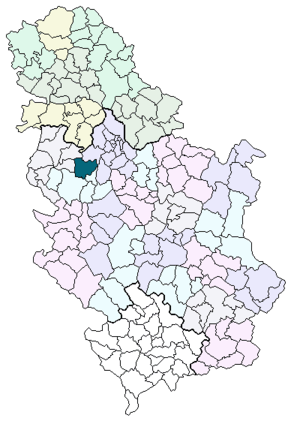 Municipality of Ubs location in Serbia