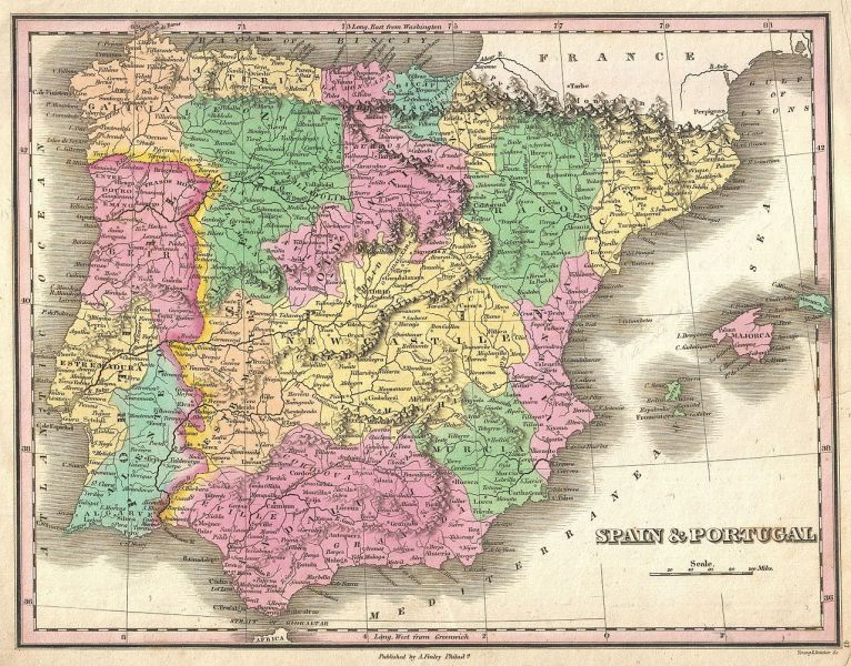 File 1827 Finely Map of Spain and Portugal   Geographicus     File 1827 Finely Map of Spain and Portugal   Geographicus    SpainPortugal finely 1827 jpg